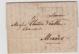 FP002 /  FRANKREICH - Bayonne, Feb. 1839 Per Passagier Nach Vera Cruz Und Dort Der Post  übergeben - Poststempel (Briefe)