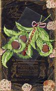 87- LIMOGES- RARE SAC PUBLICITAIRE COUSU-L. JULY-CONFISEUR CHOCOLATIER-CHOCOLAT-LAS CHATAIGNAS DO LIMOUZI-CHATAIGNES - Chocolat