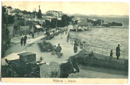 ABBAZIA - OPATIJA - Slatina Street Life Horse Carriage 1907 Stampata St PETER St. Petri - Croatie