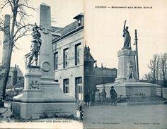 Lot De 2 CPA - DENAIN - Le Monument Aux Morts - Denain