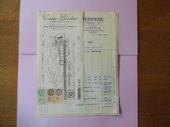 PARIS L. LEVÊQUE CACAO BLOOKER USINES A AMSTERDAM 100 & 102 RUE SAINT-DENIS FACTURE,TRAITE ET COURRIER DU 9 MARS 1933 - Lebensmittel