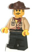 LEGO COWBOY Die Cut Postcard Sent 2005 - Danemark