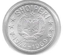 *albania 5 Qindarka 1969  Km 44  Bu - Albanie