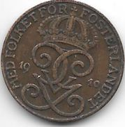 *sweden 2 Ore 1910  Km 778  Vf - Sweden
