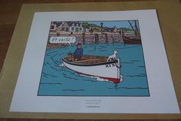 Planche Tintin  Extrait De L Ile Noir Herge Moulinsart 2010 - Andere Stripverhalen