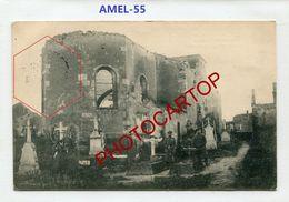 AMEL-Cimetiere-CARTE Allemande-Guerre 14-18-1 WK-France-55-Feldpost- - Etain