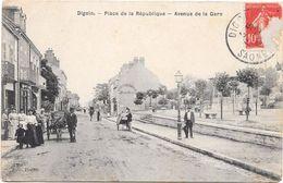 Digoin Place De La République Avenue De La Gare - Digoin