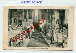 NANTILLOIS-Lazaret Dans L'Eglise-CARTE Allemande-Guerre 14-18-1 WK-France-55-Feldpost- - France