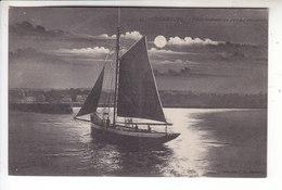 - 50 - CHERBOURG - Pilote Rentrant Au Port Au Crepuscule - Bateau - Voilier - Timbre - Cachet - 1911 - Cherbourg