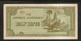 BURMA / MYANMAR - HALF RUPEE (1942) Japanese Government - Myanmar