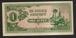 BURMA / MYANMAR - One RUPEE (1942) Japanese Government - Myanmar