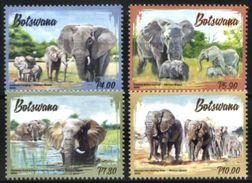 BOTSWANA, 2016, FAUNA, ELEPHANTS, YV#1154-57, MNH - Eléphants