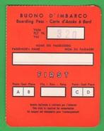 Alitalia Avion Flight Buono D'imbarco Fine Anni 60 - Transportation Tickets