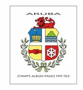 ARUBA STAMPS ALBUM PAGES 1986-2015 - PDF FILE(75 PAGES COLOR) NOT STAMPS - Spanish