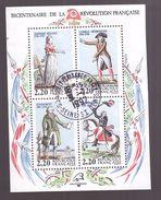 France Bloc Feuillet N° 10 Oblitéré Bicentenaire Revolution Française - Sheetlets