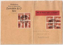 """1923, Rasierklingen-Stp. """" BERN """" , #8482 - Poststempel"""