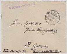 """1916, Internierten-Stp. """" WEGGIS """"   , #8483 - Poststempel"""