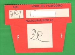Avion Flight Buono D'imbarco Fine Anni 60 - Transportation Tickets