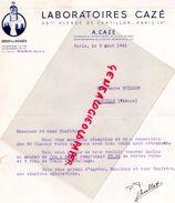 75- PARIS- FACTURE LABORATOIRES CAZE-SIROP DES VOSGES-68-AV. CHATILLON-PHARMACIEN- PHARMACIE LILLE- 1941 - Old Professions