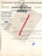 75- PARIS- BELLE FACTURE CHARLES TESTUT- 8 RUE POPINCOURT-INSTRUMENTS PESAGE MESURAGE-BALANCES BASCULES-1941 - Old Professions