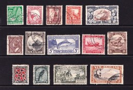 New Zealand 1935-6 Pictorials Set Of 14 Used - 1907-1947 Dominion