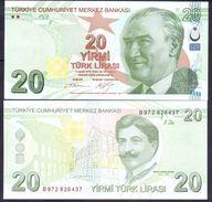 Turkey 20 Lirasi 2009 UNC P- 224b - Turchia