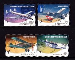 Australia 2008 Aviation, Aircraft Set Of 4 CTO - Usati