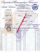 77- MELUN- FACTURE PASTILLES SALOMON-COOPERATION PHARMACEUTIQUE FRANCAISE-66 RUE DAJOT-USINE A PONTHIERRY-1941 PHARMACIE - Old Professions