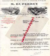 75- PARIS- BELLE FACTURE M. DUPERREY- MANUFACTURE TOILES EMERI PRODUITS CHIMIQUES-19 RUE PARADIS- 1941 - Old Professions