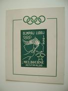 AUSTRALIA MELBOURNE 1956    ESPERANTO  OLIMPYQUES    ERINNOFILO  ERINNOPHILIE   CINDERELLA - Sommer 1956: Melbourne