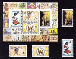 Vanuatu 1981 Christmas Set + Minisheet MNH - Vanuatu (1980-...)