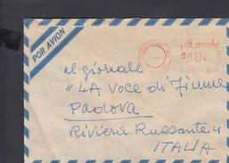 ARGENTINA - Affrancatura Meccanica - Lettera Per L'Italia - Argentina