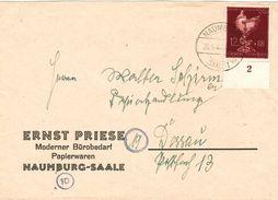 Dt. Reich 903 EF Auf Firmen- Fernbrief V. Naumburg (Saale) 1944 Nach Dessau - Alemania