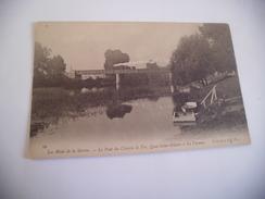 LES RIVES DE LA MARNE ...LE PONT DE CHEMIN DE FER ..QUAI ST-HILAIRE A LA VARENNE - France