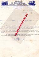 86- POITIERS-FACTURE TRANSPORTS R. CHAVENEAU- DEMENAGEMENTS-4 RUE ST GERMAIN- BD JEANNE D' ARC- 1953 - Old Professions