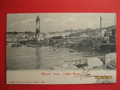 GENOVA - PORTO IL MOLO VECCHIO, LANTERNA, VIAGGIATA 1905 - Genova (Genoa)