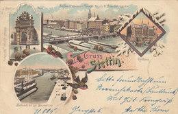 Gruss Aus Stettin - Winterlitho - 1898       (A-54-110821) - Polen