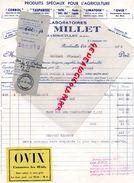 78- RAMBOUILLET- FACTURE LABORATOIRES MILLET-TAUPANOSE-RATOL-OVIX-CORBOL-KILL RAT-LIATOSE- 1942 - Old Professions
