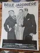 PLAQUE PUBLICITAIRE EN CARTON  BELLE JARDINIERE  Paris - Paperboard Signs