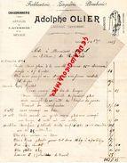 12- LAISSAC- RARE FACTURE ADOLPHE OLIER-CHAUDRONNERIE-FERBLANTERIE-ZINGUERIE-PLOMBERIE-1905 - Old Professions