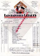 24- VILLEFRANCHE DU PERIGORD- RARE BELLE FACTURE LABORATOIRES CATALYS-G. DELZOR-N. CADIX- PRODUITS ELEVAGE - Old Professions