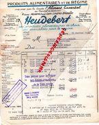 92- NANTERRE- FACTURE HEUDEBERT- L' ALIMENT ESSENTIEL- LYON-LONDRES-BRUXELLES- 1938 PRODUITS POUR REGIME - Food
