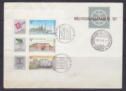 Hungary 1987 Capex - Olympihilex - Hafnia M/s FDC (F6723) - FDC