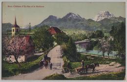 Broc-Chateau D'En Bas Et Le Moleson - Animee - Photo: Ch. Morel - FR Fribourg