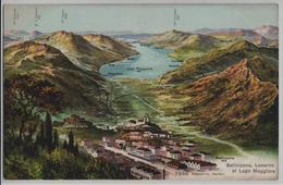 Bellinzona - Locarno Et Lago Maggiore - Panorama - Phototypie - TI Tessin
