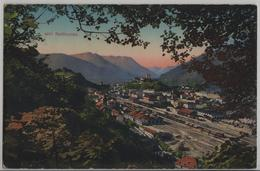 Bellinzona - Veduta Generale, Stazione, Gare, Bahnhof - Photoglob - TI Tessin
