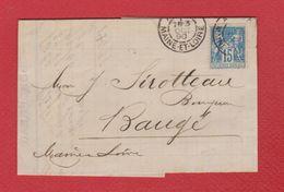 Bordereau / De Angers  / Pour Baugé / 4 Octobre 1890 - Marcophilie (Lettres)