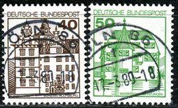 BRD - Michel 1037 / 1038 - OO Gestempelt (E) - 40-50Pf  Burgen Und Schlösser IV - [7] West-Duitsland