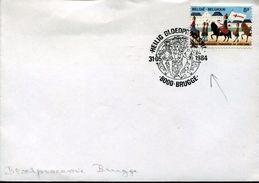 27413 Belgium, Special Postmark Brugge 1984 Showing Adam & Eva, - Christianisme
