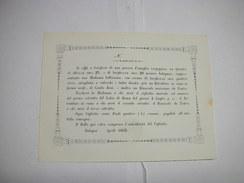 BOLOGNA  ---  LOTTERIA   O RIFFA  -- A BENEFICIO DI UNA POVERA FAMIGLIA Ecc. -- NON EMESSO   1855 - Lottery Tickets